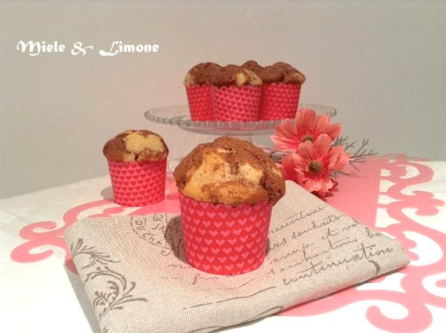 Muffin variegati alla Nutella – ricetta golosa