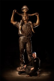 LIUNA Momument: Father and Son