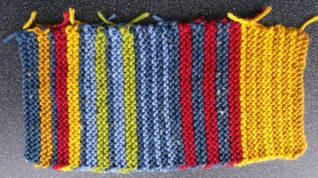 Garter stitch stripes, front
