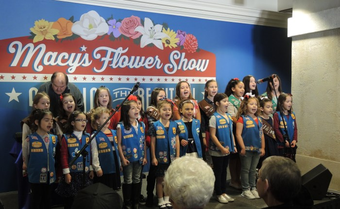 Girl Scouts Perform at Macy's Flower Show