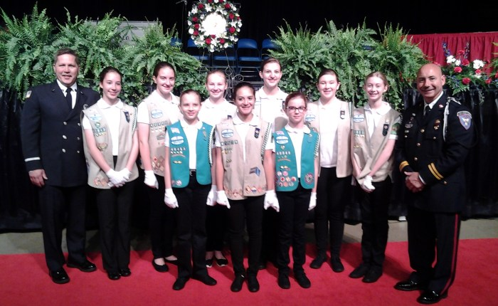 Gurnee Girl Scout Creates Honor Guard for Fallen Firefighters
