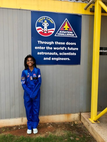 Maysa getting ready for Space Camp!