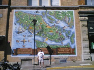 Glenn in Victoria with a very cool map!