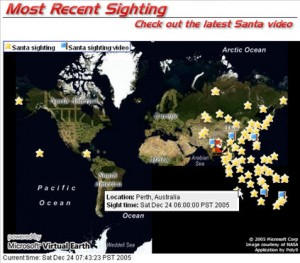 The Santa Map from NORAD
