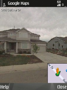 Google's Street View Imagery as seen on Nokia N95 S60 smartphone