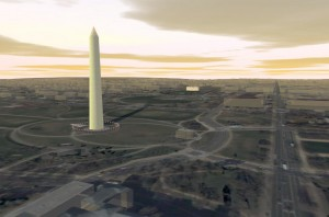 ImageScape - Washington Monument, Washington D.C  (Source: DigitalGlobe)