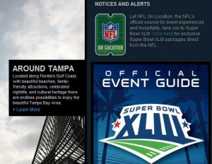 Official Super Bowl XLIII Online Map, Event Guide