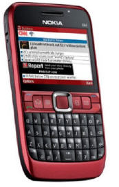 Nokia E63 in hot red- what a perfect Valentine gift!
