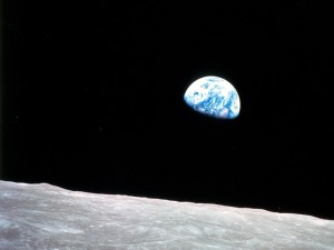 earthrise from Apollo 8 mission NASA