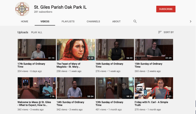 St. Giles Catholic Parish YouTube Channel