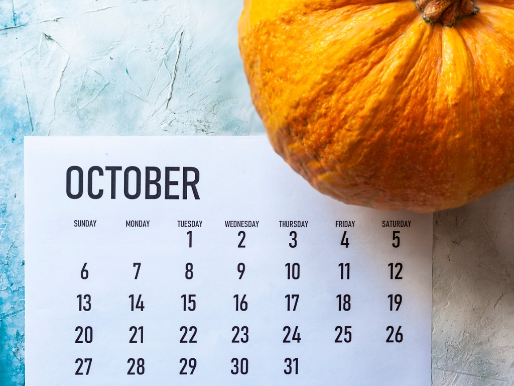 Religious Feast Days,   National and Social Media Holidays in October