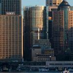 A new building adorns the Sydney skyline.
