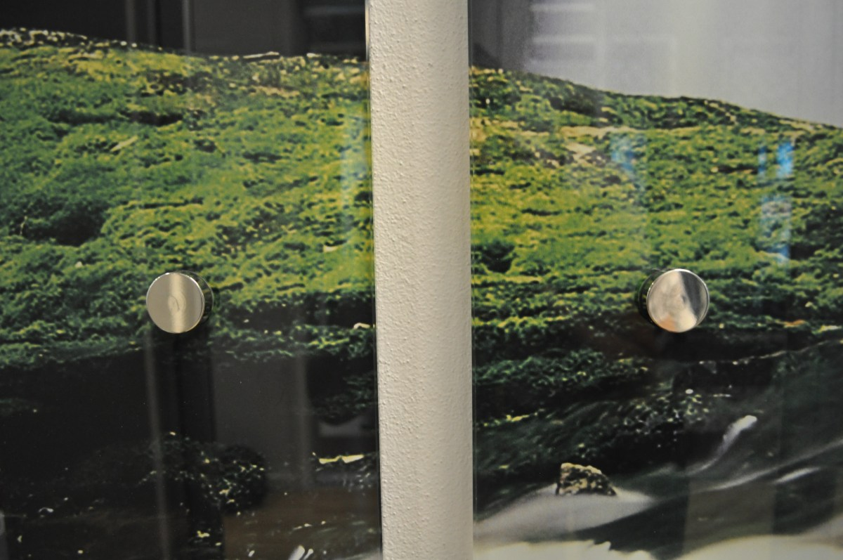 Printed Glass Fixings Example
