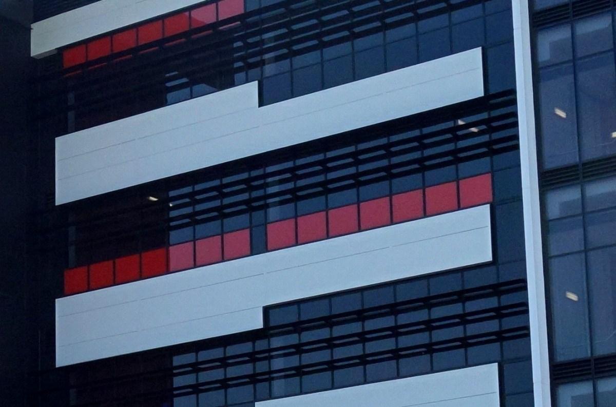 A Kingspan facade panel integrates with G.James facade.