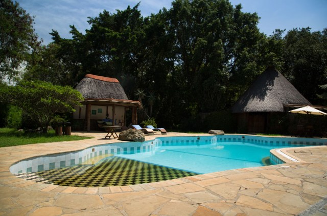 Glamping Review of Rusinga Island Lodge in Kenya by Megan Snedden - cottage by pool
