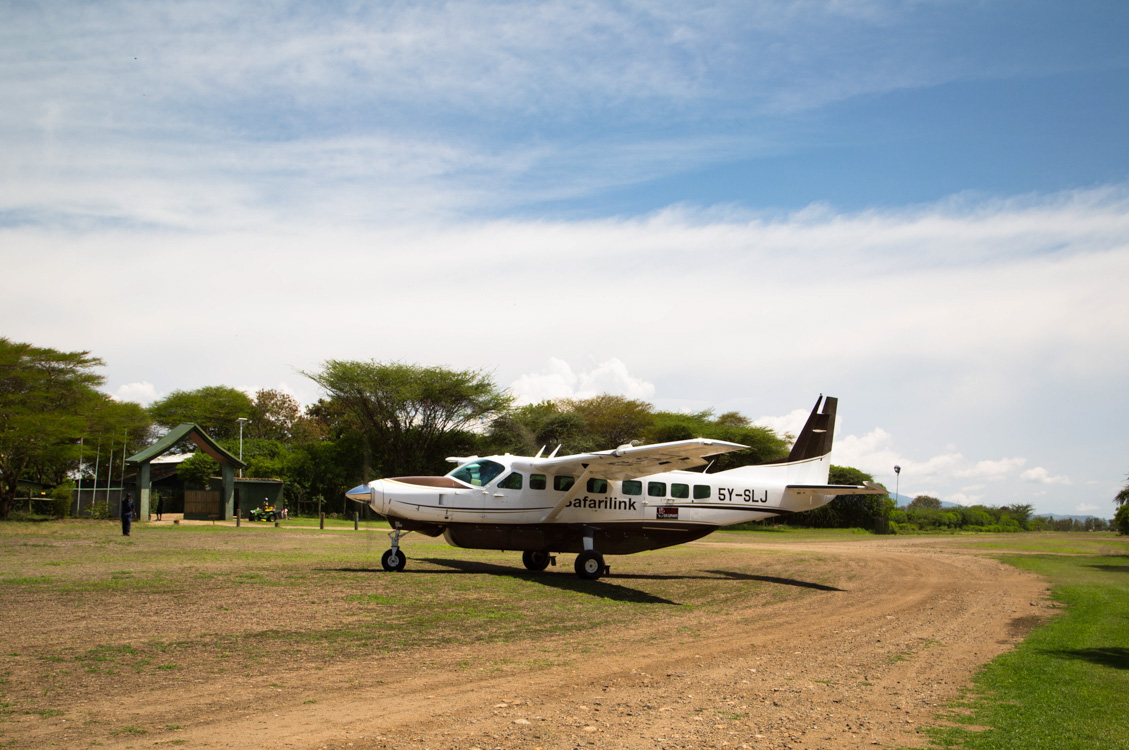 Glamping Review of Rusinga Island Lodge in Kenya by Megan Snedden - plane arrival