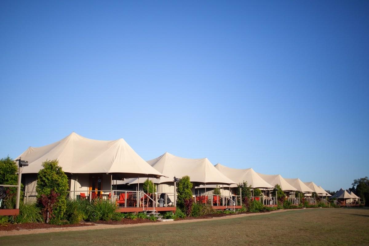Glamping in Australia at Rivershore Resort