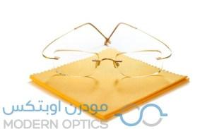 تنظيف النظارات الطبية