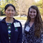 Photo: Shannon Donohue and Kiyoko Yokota (SUNY-Oneonta) at NE GLEON 2016. Credit: L. Borre.