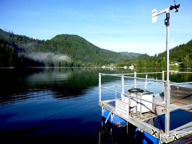 Photo: Lake Lunz buoy.