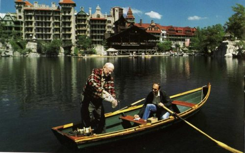 Photo: Dan Smiley and Paul Huth on Mohonk Lake. Credit: Gerd Ludwig.