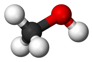 Ball and Stick Model of Methanol. Source: Wikipedia