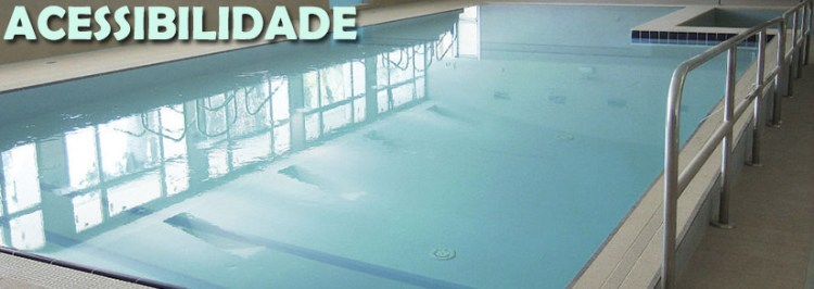 acessibilidade na piscina