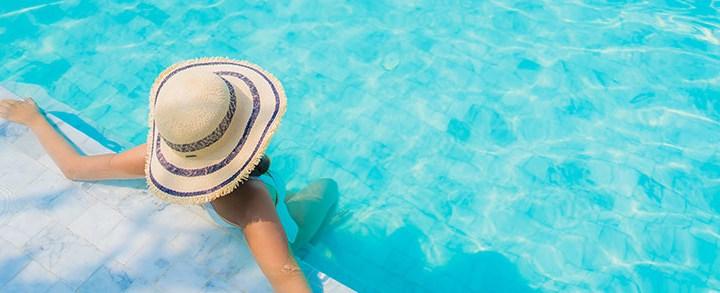 Como definir a temperatura da piscina?