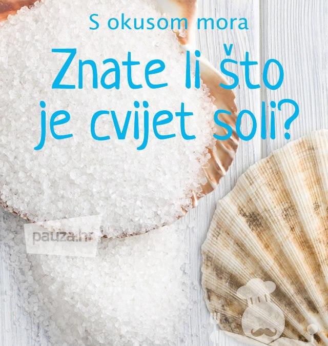 Znate li što je cvijet soli?