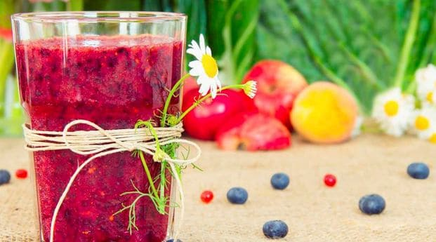 receta batido frutos rojos