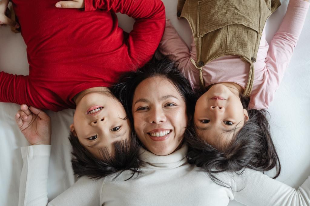 Una madre con i suoi figli