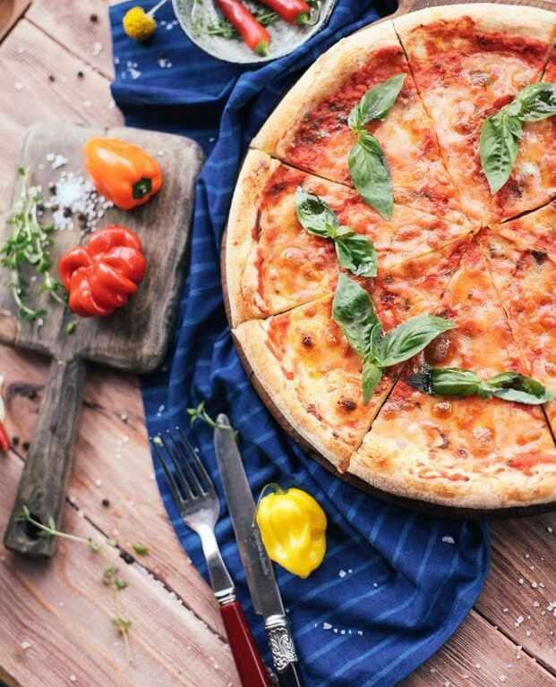 receta de la pizza margarita