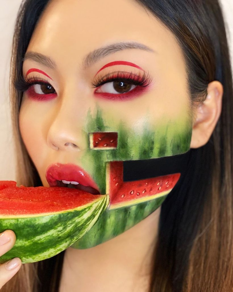 Mimi Choi watermelon slice special effects makeup