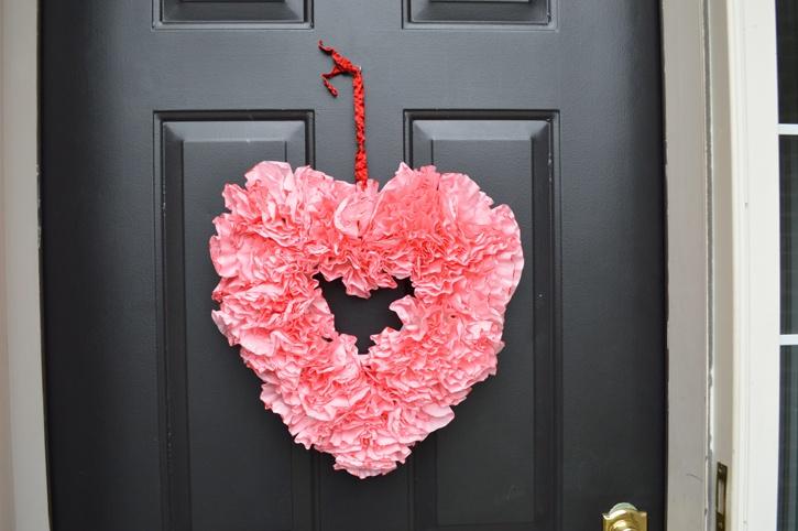 Valentines Day Coffee Filter Wreath