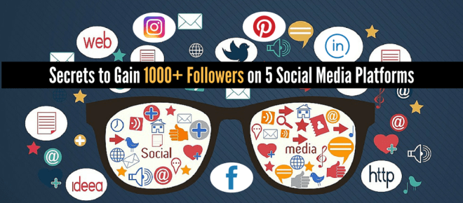Gain 1000+ Followers on 5 Social Media Platforms