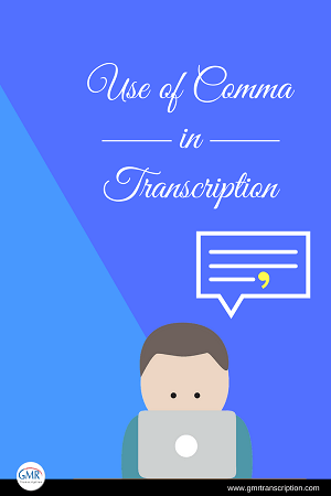 Use of Comma in Transcription [PDF]