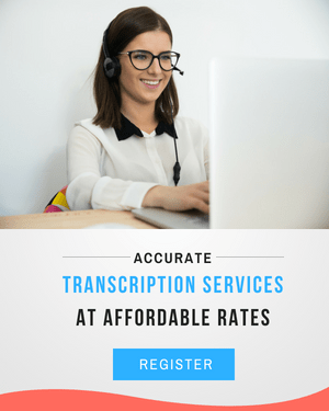 Transcription services at affordable rates