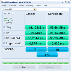 AS-SSD Benchmark ohne Fehler
