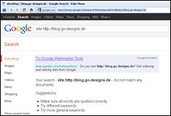Google zeigt keine Verlinkungen