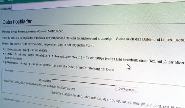 Große Uploads in MediaWiki auf einem IIS 3