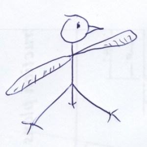 beakly ink drawings of helobird_living_300
