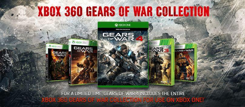 Buy Gears of War 4 on Xbox One, Get All Previous Games Free for Limited Time