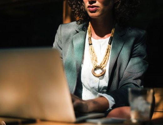 Businesswoman on her laptop