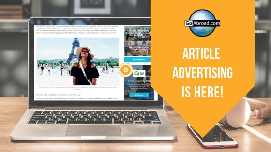 GoAbroad Article Ads
