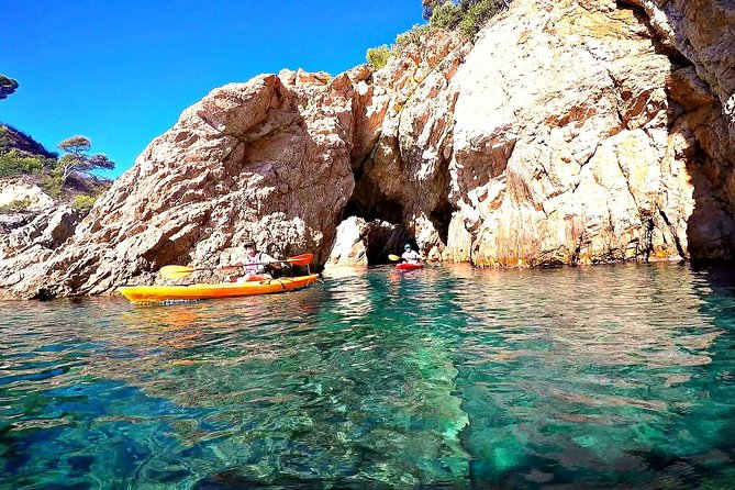 Kayaking along the coast of Costa Brava is one of the best things to do in Barcelona.