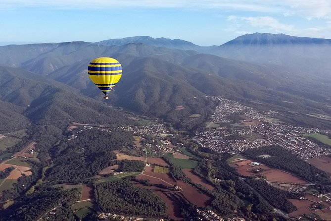 Hot air balloon ride in Catalonia, Spain