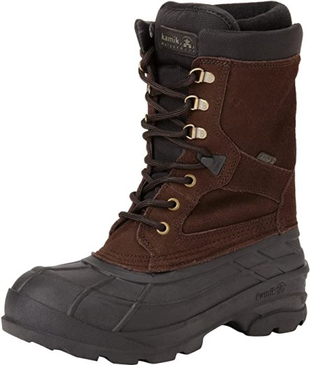 Kamik NationPlus winter hiking boots.