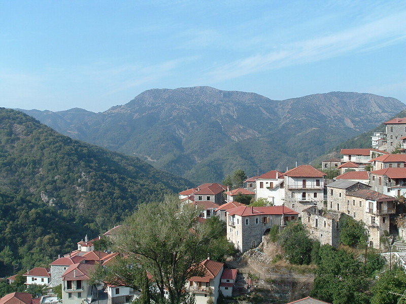 Lagadia village on one of the best hikes in Greece