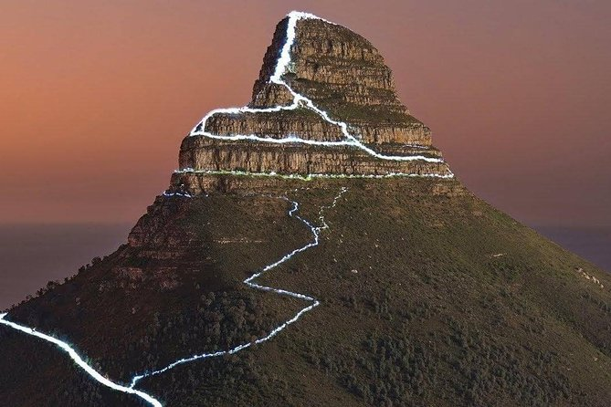 Lion's Head near Cape Town at sunset.