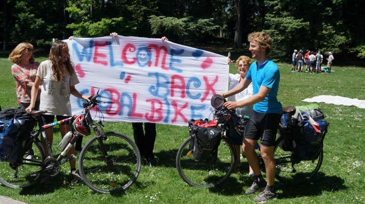 Global tour bike with my girlfriend